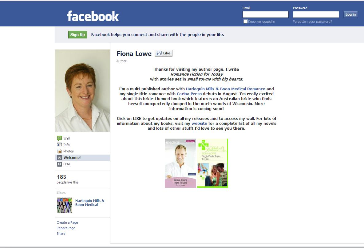 Find me on Facebook | Fiona Lowe  Romance Fiction for Today, Small