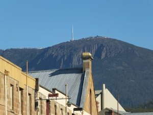 Mt Wellington from Salamanca market