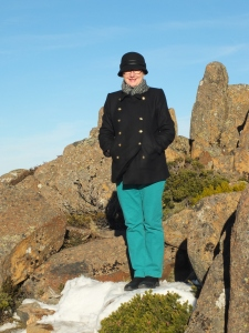 Me standing on snow on Mt Wellington